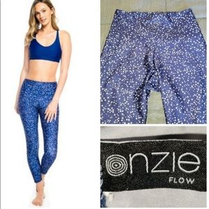 Neiman Marcus Onzie Blue Star Leggings S M